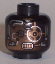 LEGO - Minifig, Head Alien with Copper Skin and Silver Eyepiece - Black