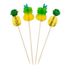 Pineapple Party Food Picks - Party Tableware - Pack of 12