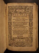 1605 LAW Corpus Juris Civilis Justinian Latin Jurisprudence Geneva Vellum 3in1