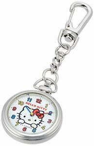 CITIZEN Q&Q Sanrio Hello Kitty Pocket Watch Waterproof HK27-204 White