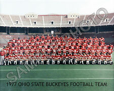1977 OHIO STATE BUCKEYES FOOTBALL 8X10 TEAM PHOTO