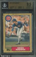New listing 1987 Topps Traded #70T Greg Maddux Chicago Cubs RC Rookie HOF BGS 9.5