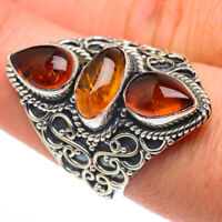 Large Baltic Amber 925 Sterling Silver Ring Size 8 Ana Co Jewelry R62708F