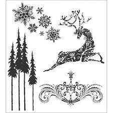 Tim Holtz Rubber Stamp Set - Reindeer Flight CMS 052