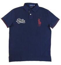 Ralph Lauren Polo Logo Short Sleeves Big Pony Mesh Rugby Custom Slim Fit Shirt
