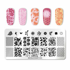 Nail Art Stamping Plate Image Decoration Spring Flowers Rose Birds Floral (ND33)