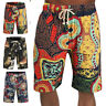 Mens Hawaiian Summer Beach Swimwear Loose Swim Trunks Surf Stretch Board Shorts