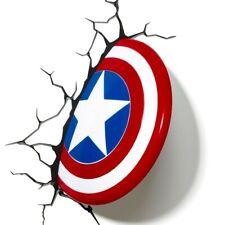 NEW Marvel 3D LED Light: Captain America Shield Avengers Superhero Wall Light