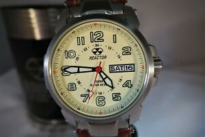 """REACTOR """"ATOM"""" Quartz, Solid Stainless Steel Case, Mid-size 42mm Case, Tusk Dial"""