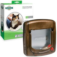 StayWell 320EF 4 Way Locking Deluxe Woodgrain Cat Flap. Helps Keep out Strays.