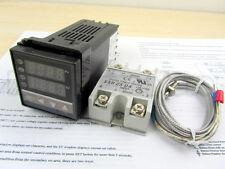 AC 100-240 Digital PID Temperature controller + 25A SSR + K thermocouple Sensor