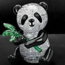 Panda 3D Puzzle - 57 Pieza 3D Rompecabezas cerebro Teaser Cristal Piezas Rompecabezas Divertido