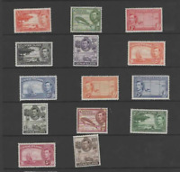 CAYMAN ISLANDS 1938-48 KGVI  SET OF 14 (SG 115-126a)  MINT