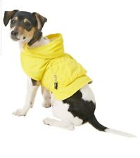 NEW EXTRA SMALL XS FAB DOG ARGYLE YELLOW RAINCOAT DOG CAT PET JACKET