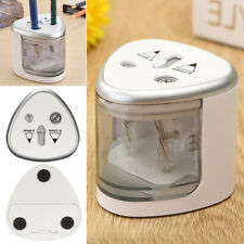 UK.Electric Automatic Pencil Sharpener 2 hole Battery Operated School Stationery