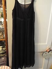 JL Studio Little Black Dress LBD Party Holiday Mid-Calf Womens Size 16W EUC