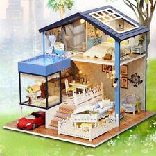 Fai da te in legno kit casa delle bambole w / mobili romantico Seattle Villa