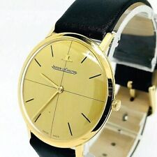 Jaeger Le-Coultre Vintage Mechanical Men Slim Watch 18k Yellow Gold