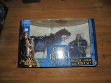 "Lord of the Rings Deluxe Horse and Rider Set ""ARAGORN BREGO"" Figure Toy Biz 2003"
