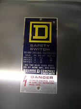 Square D H-223-N Safety Switch Fusible 100A  240V TYPE 1 FREE SHIPPING