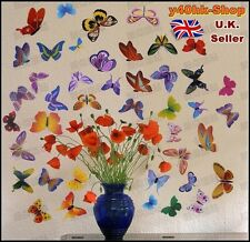 42  Colorful Butterfly Wall/Car/Window DIY Stickers Decoration mix size