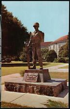 FORT BENNING GA Doughboy Statue US Army Vintage Military Postcard Old Georgia PC