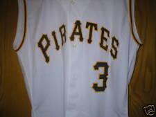 CHAD HERMANSEN Pittsburgh Pirates game used worn jersey