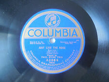 1919 Paul Biese trio When You're Alone / Just Like the Rose Columbia A2864 VG++