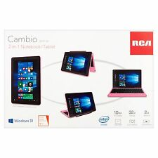 RCA Cambio 10 Inch Pink 2-in-1 Notebook/Tablet