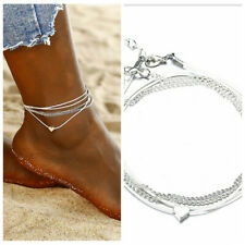 Foot Chain Charm Women Fashion Jewelry 2019 Heart Vintage Sandal Anklet Bracelet