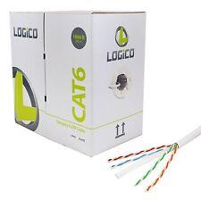 CAT6 1000 FT BULK UTP COMMUNICATION CABLE ETHERNET LAN NETWORK WHITE