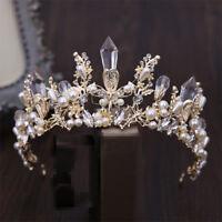 Baroque Bridal Tiara Crown Headdress Handmade Rhinestone Crown Wedding Headband