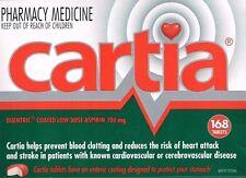 ==> CARTIA 100MG  ASPIRIN 168 ENTERIC COATED  TABLETS