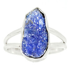 Natural Tanzanite Rough 925 Sterling Silver Ring Jewelry S.8 RR42221