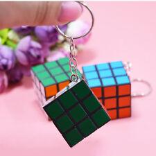 Magic Cube Shape Keyring Xmas Christmas Novelty Gift Kids Toy Key Chain Ring New