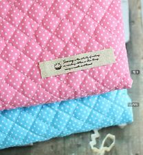 2mm Polka dot Cotton Blend Ready quilted Fabric / Pre-quilted padded spots JQ37+