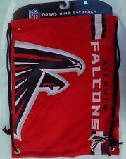 NFL ATLANTA FALCONS DRAWSTRING BACKPACK LAUNDRY BAG CAMP BEACH