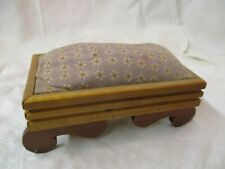 Vintage hand made Pine wood Bench Pin Cushion