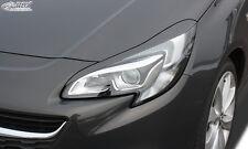 RDX Scheinwerferblenden OPEL Corsa E Böser Blick Blenden Spoiler Tuning
