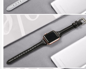 Slim Leather band For strap 40mm 44mm 38mm 42mm 44 mm Genuine Lea