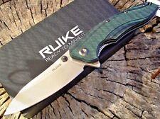 RUIKE knives P841-L black & green G10 tactical liner lock knife 14C28N blade