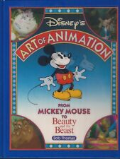 1991 WALT DISNEY'S THE ART OF ANIMATION MICKEY MOUSE BOOK BEAUTY AND THE BEAST