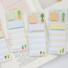Cute Cactus Sticker Planner Sticky Notes Stationery Notepad Stickers Memo Pad