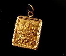 22k 22ct Solid Gold SHRI Vaishnoo Vaishnu DURGA MATA OM OHM AHM Pendant P1045 ns