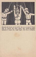 """C1547) WW1, FRANCHIGIA DI RUBINO, VIGNETTA GRANDE """"TEATRO DI BURATTINI"""". NUOVA."""