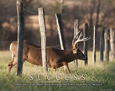 Whitetail Deer Motivational Poster Art Buck Deer Antler Sheds Bow Hunting MVP399