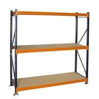 LONGSPAN SHELVING BAY (3 SHELF LEVELS) 2000H X 2140W X 900D Warehouse Racking