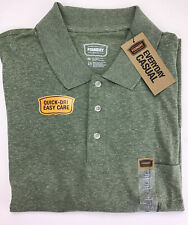 Mens The Foundry Supply Company Polo Shirt, Size 3XL. Short Sleeve Fir Green