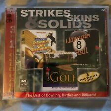 Strikes Skins & Solids~2001 Encore Software Sport Collection PC CDROM~NEW~SEALED