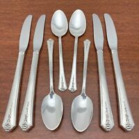 8 Vintage Silverplate Mid Century Teaspoons By Holmes Edwards Spring Garden Pattern Circa 1940/'s